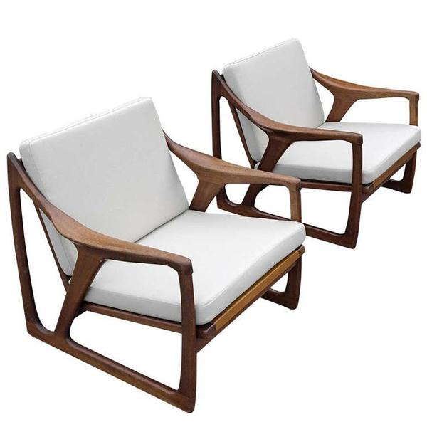 Kursi Sofa Single Tanganan Lengkung Jati