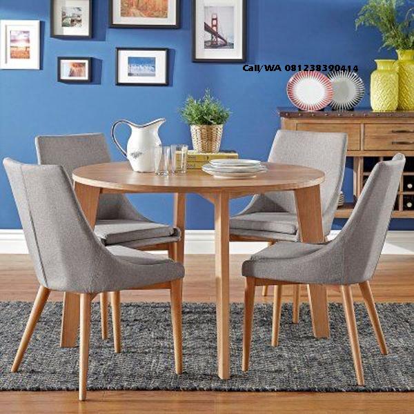 Set Kursi Makan Emma Chair Jati Solid