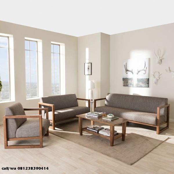 Set Kursi Tamu Sofa Minimalis Jati